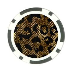Metallic Snake Skin Pattern Poker Chip Card Guard (10 pack)