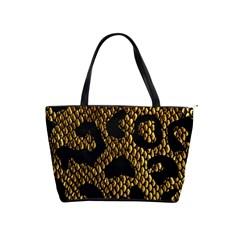 Metallic Snake Skin Pattern Shoulder Handbags