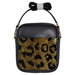 Metallic Snake Skin Pattern Girls Sling Bags