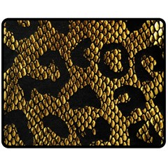 Metallic Snake Skin Pattern Fleece Blanket (Medium)