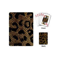 Metallic Snake Skin Pattern Playing Cards (Mini)