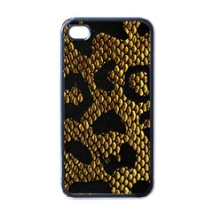 Metallic Snake Skin Pattern Apple iPhone 4 Case (Black)