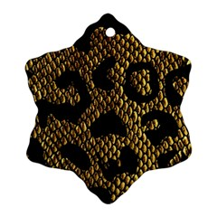 Metallic Snake Skin Pattern Ornament (Snowflake)