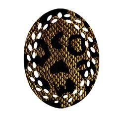 Metallic Snake Skin Pattern Ornament (Oval Filigree)
