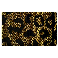 Metallic Snake Skin Pattern Apple iPad 3/4 Flip Case