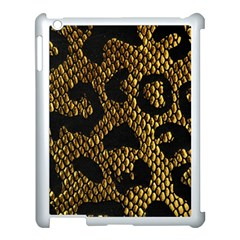 Metallic Snake Skin Pattern Apple Ipad 3/4 Case (white)