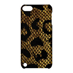 Metallic Snake Skin Pattern Apple iPod Touch 5 Hardshell Case with Stand