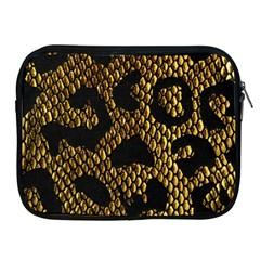 Metallic Snake Skin Pattern Apple iPad 2/3/4 Zipper Cases
