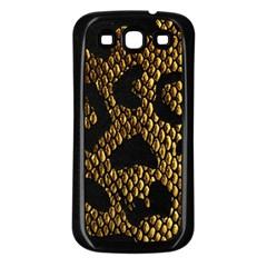Metallic Snake Skin Pattern Samsung Galaxy S3 Back Case (Black)