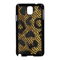 Metallic Snake Skin Pattern Samsung Galaxy Note 3 Neo Hardshell Case (black)