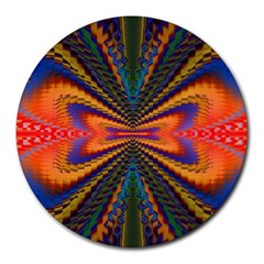 Casanova Abstract Art Colors Cool Druffix Flower Freaky Trippy Round Mousepads