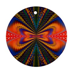 Casanova Abstract Art Colors Cool Druffix Flower Freaky Trippy Ornament (round)