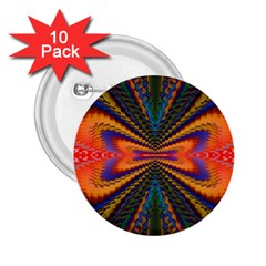 Casanova Abstract Art Colors Cool Druffix Flower Freaky Trippy 2.25  Buttons (10 pack)