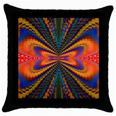 Casanova Abstract Art Colors Cool Druffix Flower Freaky Trippy Throw Pillow Case (black)