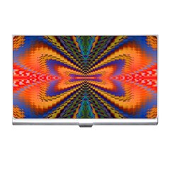 Casanova Abstract Art Colors Cool Druffix Flower Freaky Trippy Business Card Holders