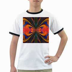 Casanova Abstract Art Colors Cool Druffix Flower Freaky Trippy Ringer T-Shirts