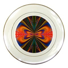 Casanova Abstract Art Colors Cool Druffix Flower Freaky Trippy Porcelain Plates