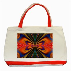 Casanova Abstract Art Colors Cool Druffix Flower Freaky Trippy Classic Tote Bag (red)