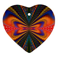 Casanova Abstract Art Colors Cool Druffix Flower Freaky Trippy Heart Ornament (Two Sides)