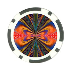 Casanova Abstract Art Colors Cool Druffix Flower Freaky Trippy Poker Chip Card Guard