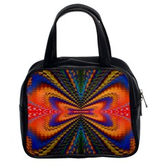 Casanova Abstract Art Colors Cool Druffix Flower Freaky Trippy Classic Handbags (2 Sides)