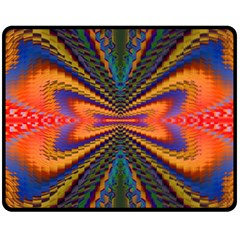 Casanova Abstract Art Colors Cool Druffix Flower Freaky Trippy Fleece Blanket (medium)