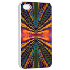 Casanova Abstract Art Colors Cool Druffix Flower Freaky Trippy Apple iPhone 4/4s Seamless Case (White)