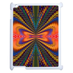 Casanova Abstract Art Colors Cool Druffix Flower Freaky Trippy Apple iPad 2 Case (White)
