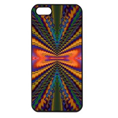 Casanova Abstract Art Colors Cool Druffix Flower Freaky Trippy Apple iPhone 5 Seamless Case (Black)
