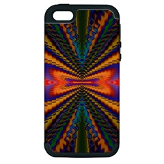 Casanova Abstract Art Colors Cool Druffix Flower Freaky Trippy Apple iPhone 5 Hardshell Case (PC+Silicone)