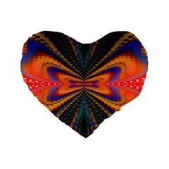 Casanova Abstract Art Colors Cool Druffix Flower Freaky Trippy Standard 16  Premium Heart Shape Cushions