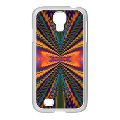 Casanova Abstract Art Colors Cool Druffix Flower Freaky Trippy Samsung Galaxy S4 I9500/ I9505 Case (white)