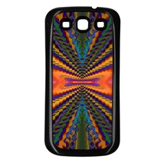 Casanova Abstract Art Colors Cool Druffix Flower Freaky Trippy Samsung Galaxy S3 Back Case (black)