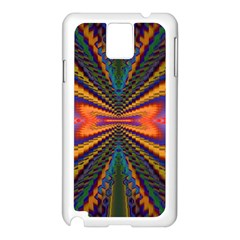 Casanova Abstract Art Colors Cool Druffix Flower Freaky Trippy Samsung Galaxy Note 3 N9005 Case (White)