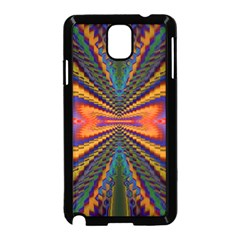 Casanova Abstract Art Colors Cool Druffix Flower Freaky Trippy Samsung Galaxy Note 3 Neo Hardshell Case (Black)