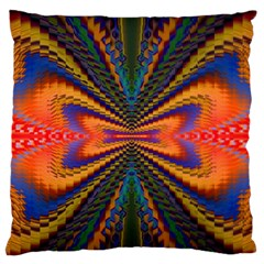 Casanova Abstract Art Colors Cool Druffix Flower Freaky Trippy Large Flano Cushion Case (one Side)