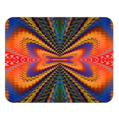 Casanova Abstract Art Colors Cool Druffix Flower Freaky Trippy Double Sided Flano Blanket (Large)