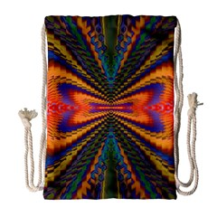 Casanova Abstract Art Colors Cool Druffix Flower Freaky Trippy Drawstring Bag (Large)