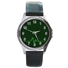 01 Numbers Round Metal Watch
