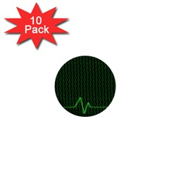 01 Numbers 1  Mini Buttons (10 pack)
