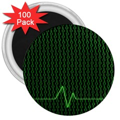 01 Numbers 3  Magnets (100 pack)