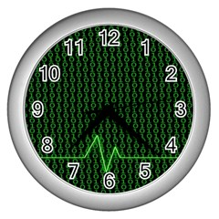 01 Numbers Wall Clocks (Silver)