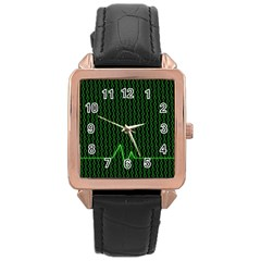 01 Numbers Rose Gold Leather Watch