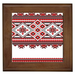 Consecutive Knitting Patterns Vector Framed Tiles
