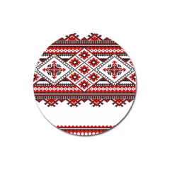 Consecutive Knitting Patterns Vector Magnet 3  (round)