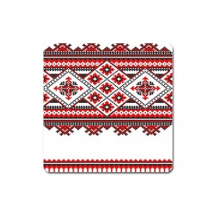 Consecutive Knitting Patterns Vector Square Magnet
