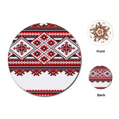 Consecutive Knitting Patterns Vector Playing Cards (round)