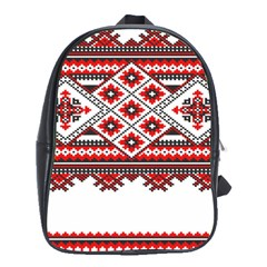 Consecutive Knitting Patterns Vector School Bags(Large)