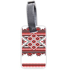 Consecutive Knitting Patterns Vector Luggage Tags (one Side)