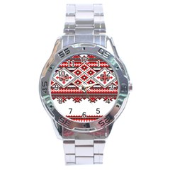 Consecutive Knitting Patterns Vector Stainless Steel Analogue Watch